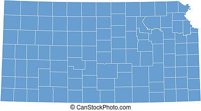 Vector map Kansas