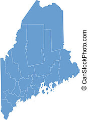 Vector map Maine