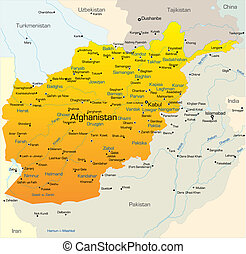 Afganistan country - Vector map of Afganistan country