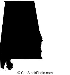 Vector map of Alabama (USA State)