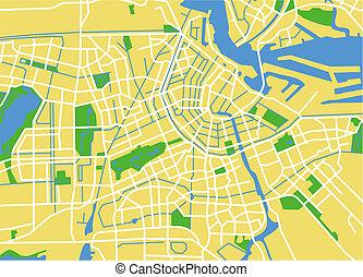 amsterdam - vector map of amsterdam.