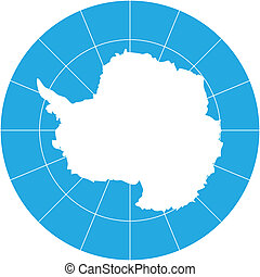 Vector map of Antarctica -southern earth continent