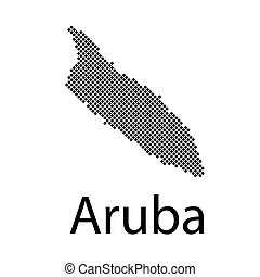 vector map of Aruba