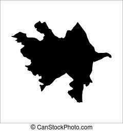 vector map of Azerbaijan
