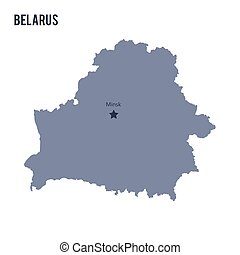 Vector map of Belarus isolated on white background.