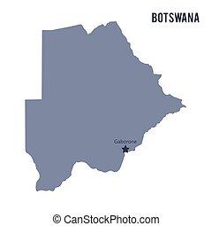 Vector map of Botswana isolated on white background.