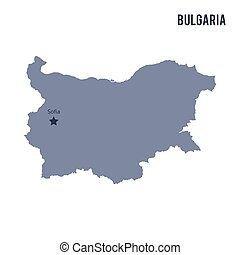 Vector map of Bulgaria isolated on white background.