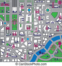 Vector map of city