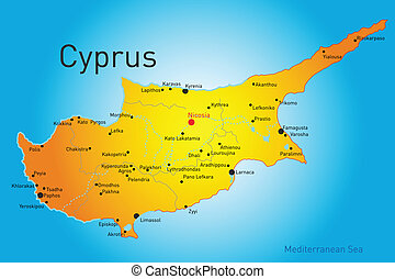 Cyprus - vector map of Cyprus country