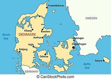 vector map of Denmark