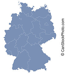vector map of Germany each division can be edited