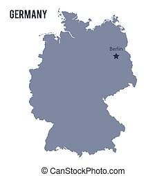 Vector map of Germany isolated on white background.