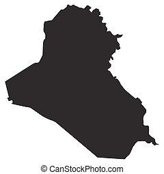 vector map of Iraq