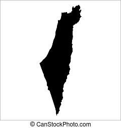 vector map of Israel
