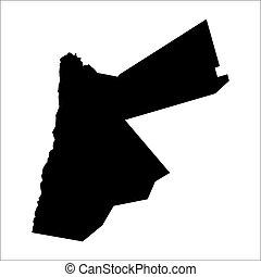 vector map of Jordan