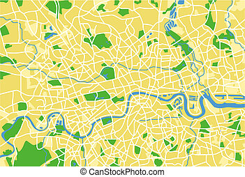 London - vector map of London.