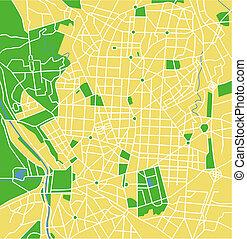 Madrid - Vector map of Madrid.