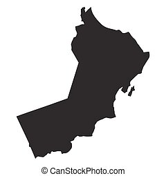 vector map of Oman