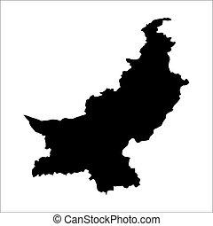 vector map of Pakistan