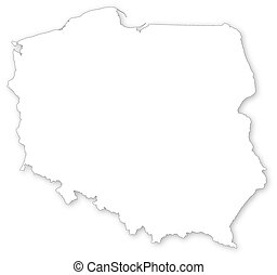 Vector map of Polandprojected in UTM system - Vector map of...