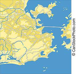 Rio de Janeiro - Vector map of Rio de Janeiro.