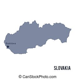 Vector map of Slovakia isolated on white background.