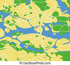 Stockholm - Vector map of Stockholm.