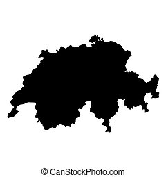 vector map of Switzerland  with high details