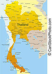 Thailand country - Vector map of Thailand country