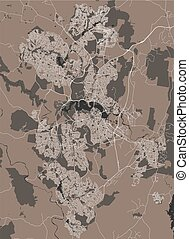 map of the city of Canberra, Australia