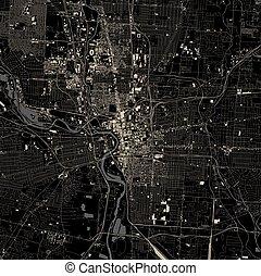 map of the city of Columbus, Ohio, USA