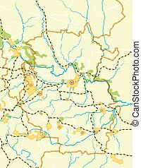 Vector Map of The Country - Geodesic Map of The Country....