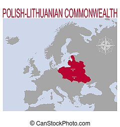 vector map of the Polish?Lithuanian Commonwealth for your ...