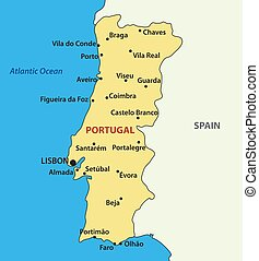 vector map of the Portugal