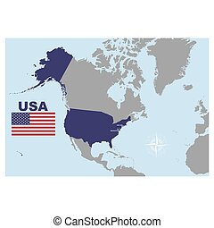 vector map of the United States of America