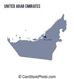 Vector map of United Arab Emirates isolated on white background.
