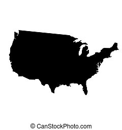 vector map of United States with high details