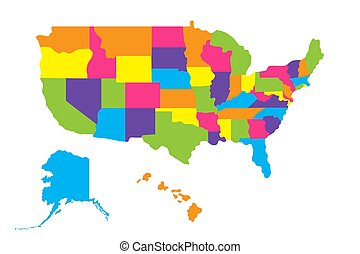 Detailed map of usa including alaska and hawaii. The ...