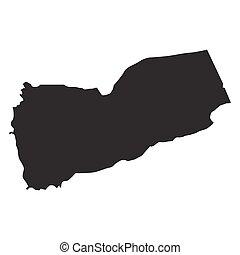 vector map of Yemen