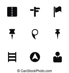 Vector map pointer icons set
