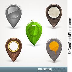 Vector map pointers - different material and textures
