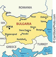 vector map - Republic of Bulgaria