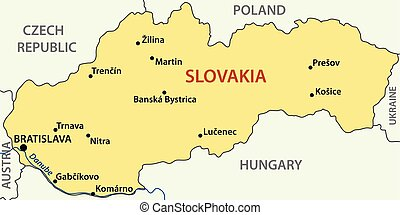 vector map - Slovak Republic