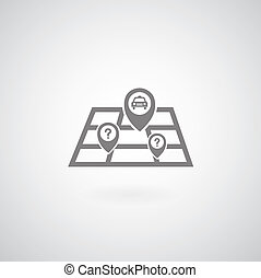 Vector map symbol on gray background