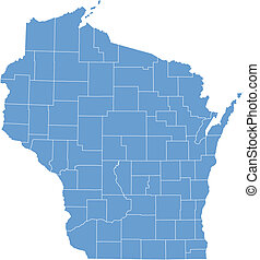 Vector map Wisconsin