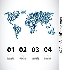 vector map with special sketch design