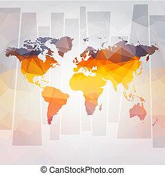 vector, mapa, concepto, moderno, mundo