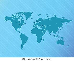 vector, mapa del mundo, ilustración
