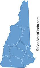 vector, mapa, new hampshire