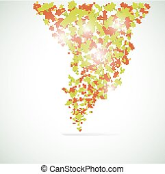 Vector maple leaf background.